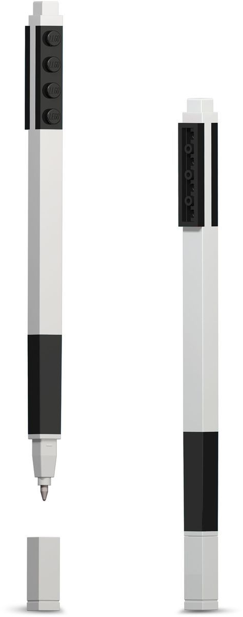 LEGO Набор гелевых ручек цвет чернил черный 2 шт51505Набор гелевых ручек из уникальной коллекции канцелярских принадлежностей Lego состоит из двух ручек с чернилами чёрного цвета. Ручка имеет пластиковый корпус с резиновой манжеткой, которая снижает напряжение руки. Ручка обеспечивает легкое и мягкое письмо, чернила быстро высыхают, не размазываются. Корпусы ручек дополнены классическими деталями конструктора Lego, что позволяет соединять их между собой.