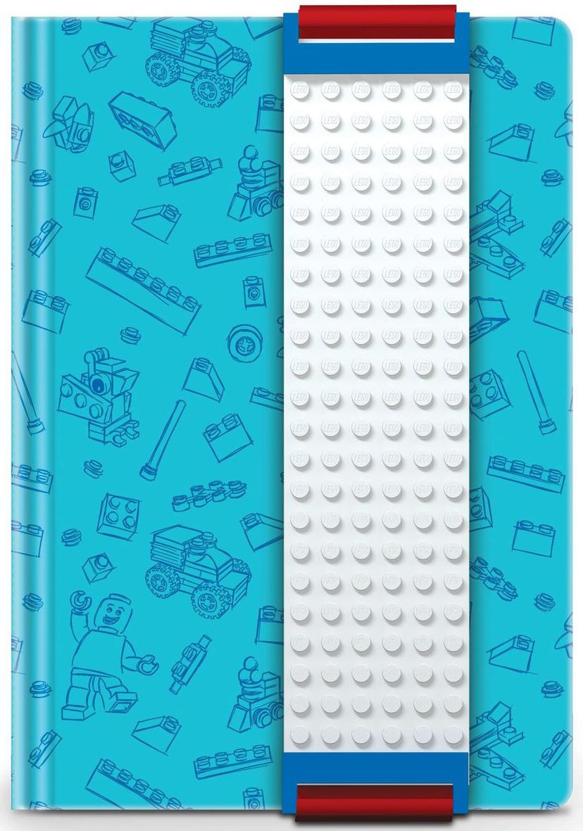LEGO Записная книжка 96 листов в линейку с закладкой цвет голубой 5152396841СОригинальную книгу для записей LEGO можно использовать в качестве ежедневника, блокнота для рисования, написания сочинений или важных событий. Закладка поможет не только найти необходимую запись, а также хранить ручку, маркер или карандаш вместе, ведь все канцелярские принадлежности скрепляются друг с другом по принципу конструкторов LEGO. Внутренний блок состоит из 96 листов в линейку.