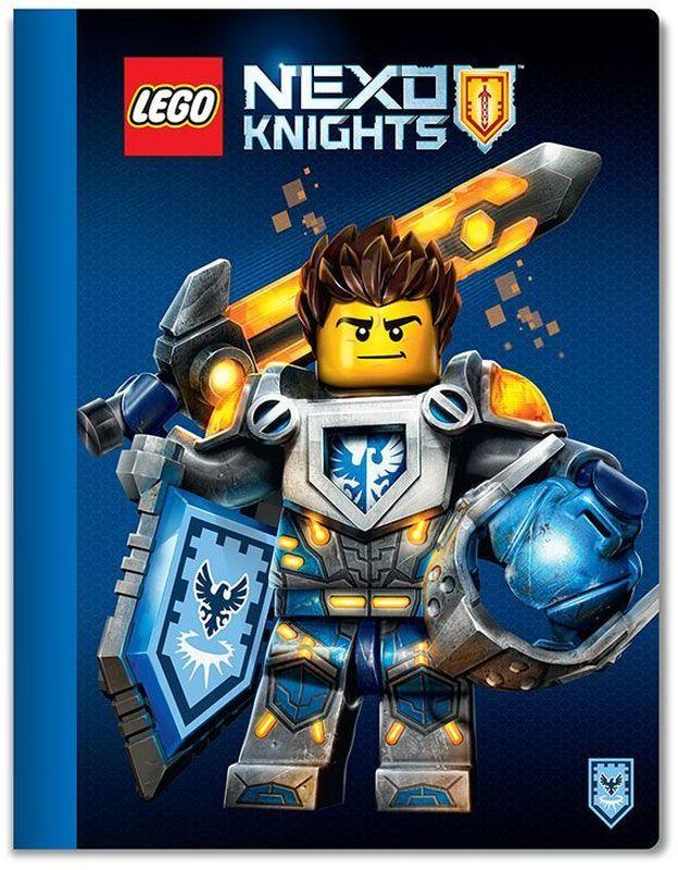 LEGO Nexo Knights Тетрадь 100 листов в линейку 5155651556Тетрадь в линейку LEGO Nexo Knights предназначена для школьных занятий и просто для записей. Стильный дизайн обложки, сочетающий различные цвета и изображения любимых персонажей делает тетрадь подходящей для учеников начальной и средней школы. Плотная обложка из высококачественного картона не даст помяться страничкам.
