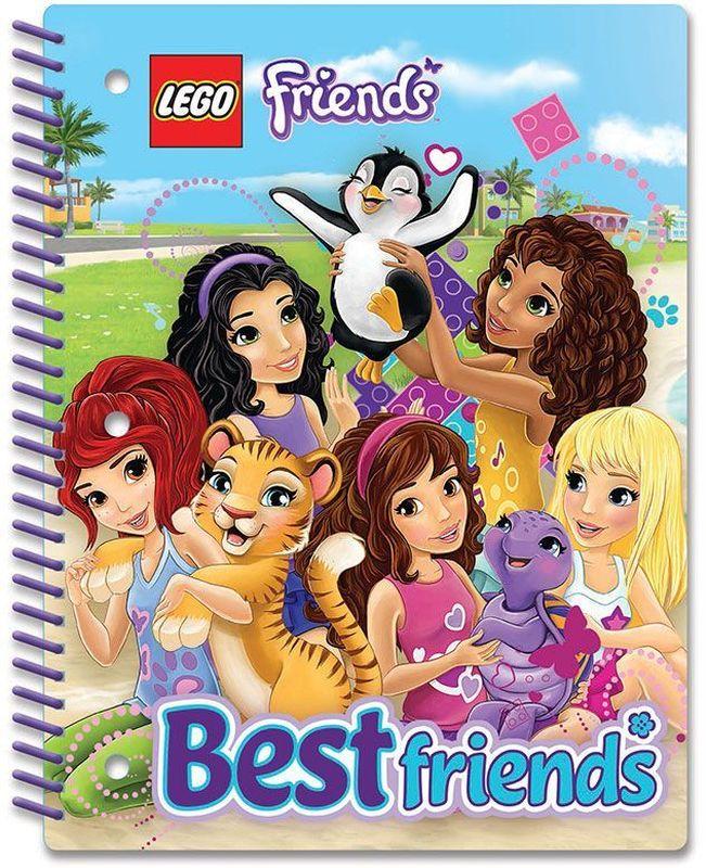 LEGO Friends Тетрадь на спирали 70 листов в линейку 5160351603Тетрадь на спирали LEGO Friends в линейку предназначена для школьных занятий и просто для записей. Стильный дизайн обложки, сочетающий различные цвета и изображения любимых персонажей делает тетрадь подходящей для учениц начальной и средней школы. Плотная обложка из высококачественного картона не даст помяться страничкам.