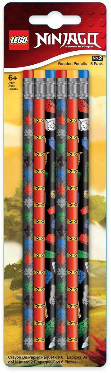 LEGO Набор карандашей Ninjago 6 шт lego friends набор чернографитных карандашей 6 шт 51594