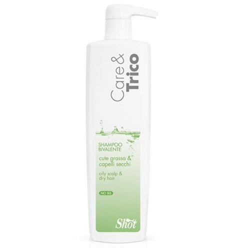 Shot Care and Trico Bivalent Shampoo - Шампунь двойного действия для жирной кожи головы и сухих волос 250 млSHCT109Специальный шампунь на основе отобранных молекул с электростатическим действием.Глубоко очищает кожу, удаляя излишки кожного сала, и увлажняет волосы по всей длине до самых кончиков.