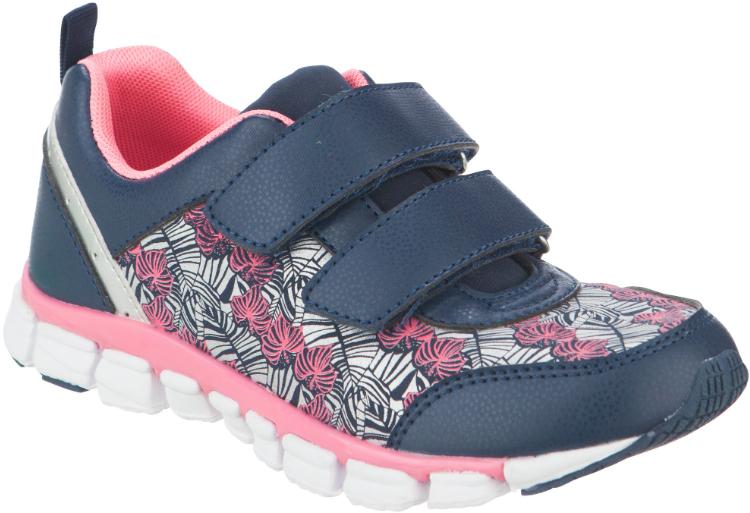 Кроссовки для девочки Kapika, цвет: темно-синий, фуксия. 73299с-1. Размер 3373299с-1Стильные кроссовки от Kapika заинтересуют вашего ребенка с первого взгляда. Модель, выполненная из текстиля и искусственной кожи, дополнена стильным принтом. Ремешки на застежках-липучках гарантируют надежную фиксацию модели на ноге. Внутренняя поверхность из текстиля обеспечивает комфорт и предотвращает натирание. Стелькаиз натуральной кожи дополнена супинатором, который отвечает за правильное формирование стопы. Рифление на подошве гарантирует отличное сцепление с любой поверхностью. Удобные кроссовки займут достойное место в гардеробе вашего ребенка.