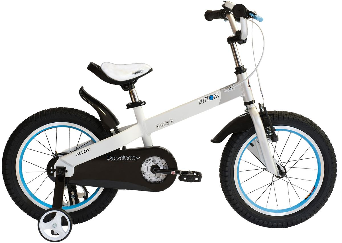 Велосипед детский Royal Baby Buttons Alloy 14, цвет: белый велосипед royal baby buttons alloy 14 2018