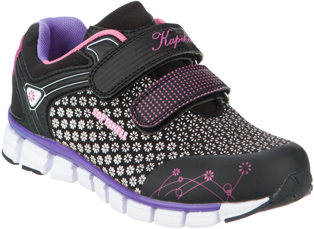 Кроссовки для девочки Kapika, цвет: черный. 73285с-2. Размер 3573285с-2Стильные кроссовки от Kapika заинтересуют вашего ребенка с первого взгляда. Модель, выполненная из текстиля и искусственной кожи, дополнена стильным принтом.Верхний ремешок дополнен надписью Sport. Ремешки на застежке-липучке гарантируют надежную фиксацию модели на ноге. Внутренняя поверхность из текстиля и натуральной кожи обеспечивает комфорт и предотвращает натирание. Стелькаиз натуральной кожи дополнена супинатором, который отвечает за правильное формирование стопы. Рифление на подошве гарантирует отличное сцепление с любой поверхностью. Удобные кроссовки займут достойное место в гардеробе вашего ребенка.