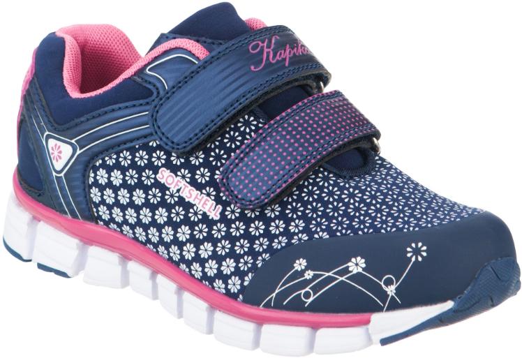 Кроссовки для девочки Kapika, цвет: темно-синий, белый, розовый. 73285с-1. Размер 3673285с-1Стильные кроссовки от Kapika заинтересуют вашего ребенка с первого взгляда. Модель, выполненная из текстиля и искусственной кожи, дополнена стильным принтом.Верхний ремешок дополнен надписью Sport. Ремешки на застежке-липучке гарантируют надежную фиксацию модели на ноге. Внутренняя поверхность из текстиля и натуральной кожи обеспечивает комфорт и предотвращает натирание. Стелькаиз натуральной кожи дополнена супинатором, который отвечает за правильное формирование стопы. Рифление на подошве гарантирует отличное сцепление с любой поверхностью. Удобные кроссовки займут достойное место в гардеробе вашего ребенка.