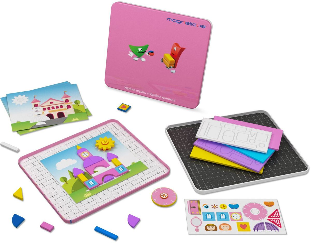 Magneticus Мозаика магнитная Замок принцессы barneybuddy barneybuddy игрушки для ванны стикеры замок принцессы