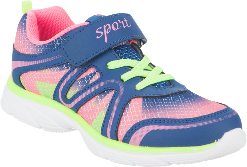 Кроссовки для девочки Kapika, цвет: темно-синий, розовый. 73272-1. Размер 3473272-1Стильные кроссовки от Kapika заинтересуют вашего ребенка с первого взгляда. Модель выполнена из сетчатого текстиля и искусственной кожи. Верхний ремешок дополнен надписью Sport. Ремешок на застежке-липучке и эластичные шнурки, гарантируют надежную фиксацию модели на ноге. Внутренняя поверхность из текстиля обеспечивает комфорт и предотвращает натирание. Стелькаиз натуральной кожи дополнена супинатором, который отвечает за правильное формирование стопы. Рифление на подошве гарантирует отличное сцепление с любой поверхностью. Удобные кроссовки займут достойное место в гардеробе вашего ребенка.