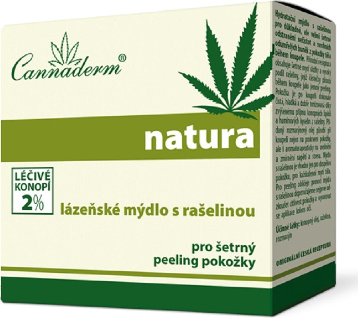 Natura Банное мыло с торфом Cannaderm 80г.