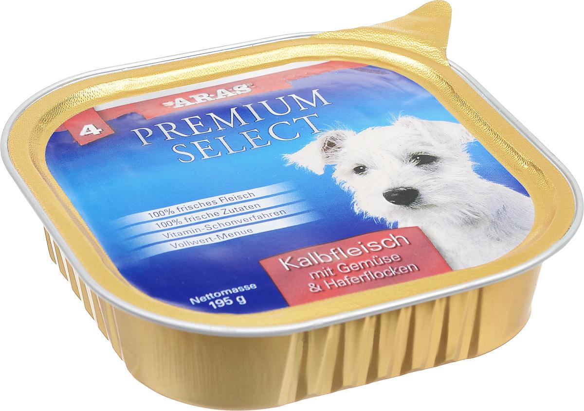 Консервы для собак Aras Premium Select, с телятиной, овощами и овсяными хлопьями, 195 г101204Повседневный консервированный корм Aras Premium Select подходим для собак всех пород и всех возрастов. При производстве корма используются исключительно свежие натуральные продукты: мясо, овощи, овсяные хлопья и экстракт масла зародышей зерна пшеницы холодного отжима (Bio-Dura). Благодаря уникальной технологии, схожей с технологий Souse Vide, при изготовлении сохраняются все натуральные витамины и минералы. Это достигается благодаря бережной обработке всех ингредиентов при температуре менее 80 градусов. Такая бережная обработка продуктов не стерилизует продуктовые компоненты, поэтому корма не нуждаются ни в каких дополнительных вкусовых добавках и сохраняют все необходимые полезные вещества. Не содержит химических красителей, усилителей вкуса, искусственных консервантов, химических добавок и ГМО. Состав: мясо (телятина) 95%, овощи 2%, овсяные хлопья 1%, экстракт зародышей пшеницы холодного отжима 2%. Пищевая ценность: белки 12,6%, жиры 6,6%, зола 1,9%, клетчатка 0,8%, влажность 77,6%. Товар сертифицирован.