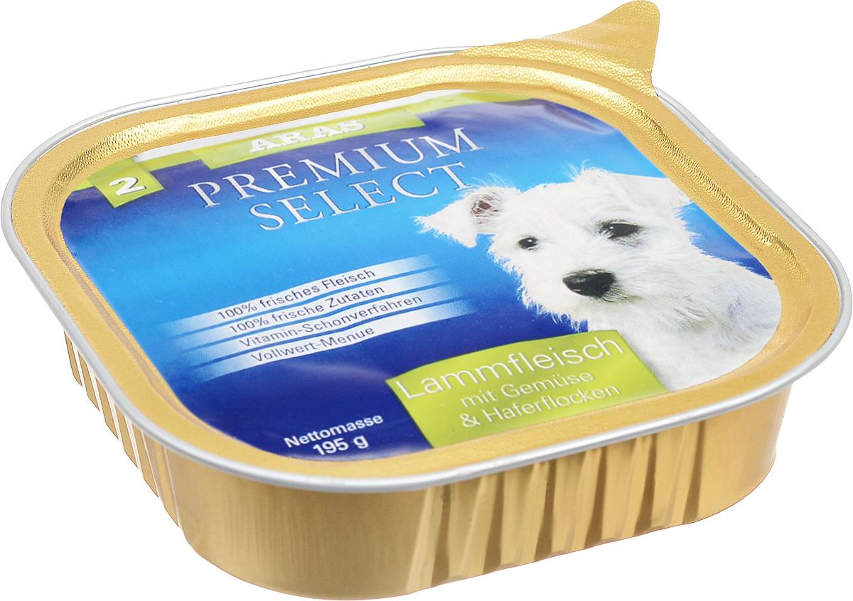 Консервы для собак Aras Premium Select, с бараниной, овощами и овсяными хлопьями, 195 г консервы для кошек aras premium deluxe паштет с домашней птицей 100 г