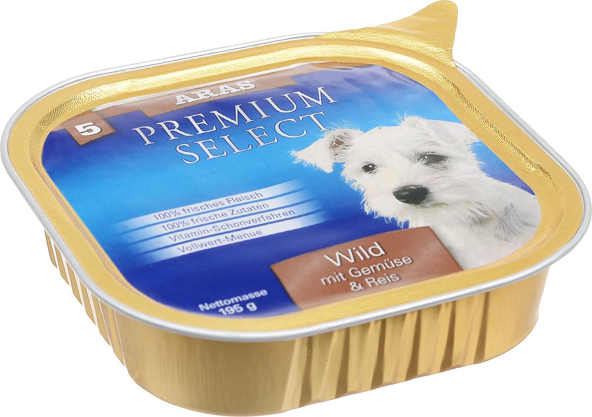 Консервы для собак Aras Premium Select, с дичью, овощами и рисом, 195 г101205Повседневный консервированный корм Aras Premium Select подходим для собак всех пород и всех возрастов. При производстве корма используются исключительно свежие натуральные продукты: мясо дичи и говядины, овощи, рис и экстракт масла зародышей зерна пшеницы холодного отжима (Bio-Dura). Благодаря уникальной технологии, схожей с технологий Souse Vide, при изготовлении сохраняются все натуральные витамины и минералы. Это достигается благодаря бережной обработке всех ингредиентов при температуре менее 80 градусов. Такая бережная обработка продуктов не стерилизует продуктовые компоненты, поэтому корма не нуждаются ни в каких дополнительных вкусовых добавках и сохраняют все необходимые полезные вещества.Не содержит химических красителей, усилителей вкуса, искусственных консервантов, химических добавок и ГМО. Состав: мясо (дичь/говядина) 95%, овощи 2%, рис 1%, экстракт зародышей пшеницы холодного отжима 2%. Пищевая ценность: белки 12,8%, жиры 6,0%, зола 2,1%, клетчатка 0,4%, влажность 77,4%. Товар сертифицирован.
