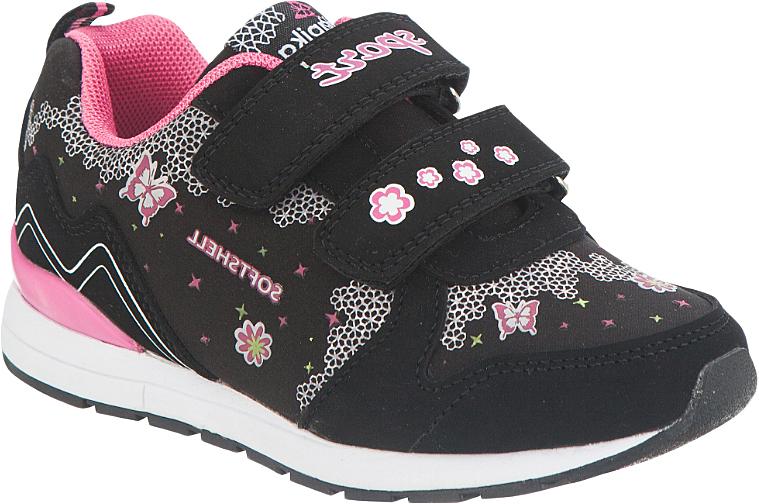 Кроссовки для девочки Kapika, цвет: черный. 72214с-2. Размер 2972214с-2Удобные и стильные кроссовки для девочки Kapika прекрасно подойдут вашему ребенку для активного отдыха и повседневной носки. Верх модели выполнен из текстиля и мягкой искусственной кожи. Стелька изготовлена из натуральной кожи, благодаря чему обувь дышит, и дарит комфорт при движении. Для удобства обувания и надежной фиксации стопы на подъеме имеются два ремешка на липучках. Модель оформлена стильным принтом и надписью. Рельефная подошва не скользит и обеспечивает хорошее сцепление с поверхностью. В них ногам вашей непоседы будет комфортно и уютно!