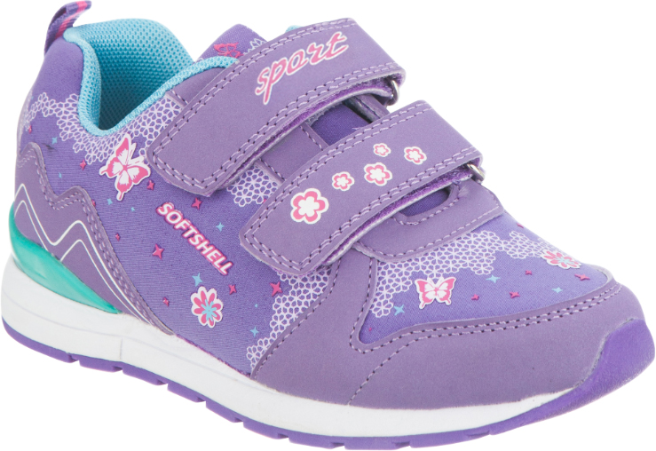 Кроссовки для девочки Kapika, цвет: фиолетовый. 72214с-1. Размер 3272214с-1Удобные и стильные кроссовки для девочки Kapika прекрасно подойдут вашему ребенку для активного отдыха и повседневной носки. Верх модели выполнен из текстиля и мягкой искусственной кожи. Стелька изготовлена из натуральной кожи, благодаря чему обувь дышит, и дарит комфорт при движении. Для удобства обувания и надежной фиксации стопы на подъеме имеются два ремешка на липучках. Модель оформлена стильным принтом и надписью. Рельефная подошва не скользит и обеспечивает хорошее сцепление с поверхностью. В них ногам вашей непоседы будет комфортно и уютно!