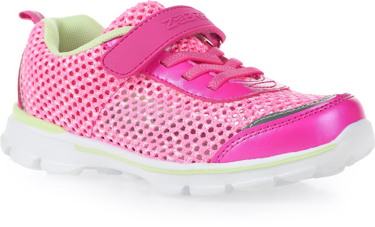 Кроссовки для девочки Зебра, цвет: розовый. 11626-9. Размер 3511626-9Стильные кроссовки от Зебра выполнены из дышащего текстиля. На ноге модель фиксируется с помощью шнуровки и ремешка на липучке. Внутренняя поверхность из текстиля комфортна при движении. Стелька выполнена из натуральной кожи и дополнена супинатором, который обеспечивает правильное положение ноги ребенка при ходьбе, предотвращает плоскостопие. Подошва с рифлением обеспечивает идеальное сцепление с любыми поверхностями.
