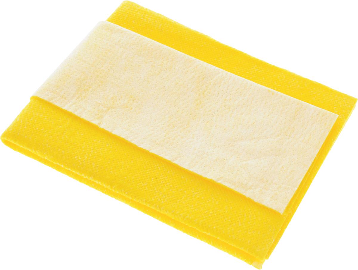 Салфетка для мытья и полировки автомобиля Главдор Комби,цвет: желтый, 40 х 50 смGL-92-006_желтыйСалфетка Главдор Комби выполнена из высококачественного материала и предназначена для мытья автомобиля и других транспортных средств. Отлично моет, легко отжимается, применяется многократно. Хорошо впитывает жидкость, удерживает грязь. Не повреждает лакокрасочное покрытие. Обладает длительной прочностью. Мягкая и удобная в применении. Размер салфетки: 40 х 50 см.