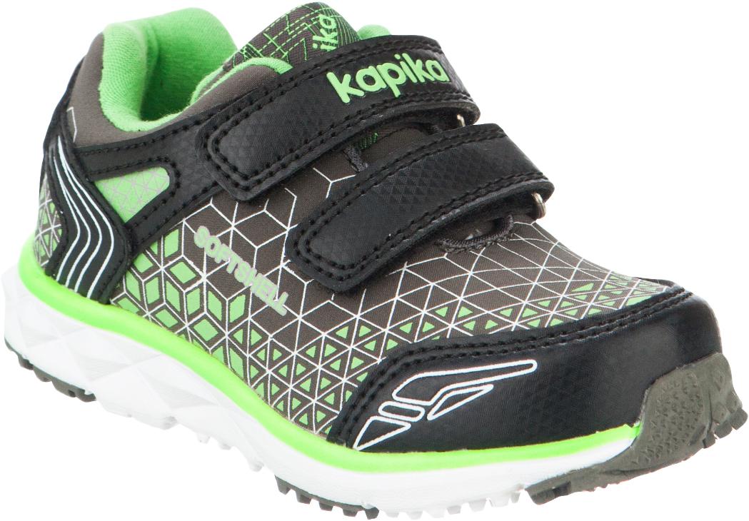 Кроссовки для мальчика Kapika, цвет: серый, салатовый, черный. 71160с-1. Размер 2371160с-1Удобные и стильные кроссовки с супинатором для мальчика Kapika прекрасно подойдут вашему ребенку для активного отдыха и повседневной носки. Верх модели выполнен из искусственной кожи и текстиля. Стелька изготовлена из натуральной кожи, благодаря чему обувь дышит, что обеспечивает идеальный микроклимат. Подкладка из хлопка обеспечивает дополнительный комфорт для детской ножки. Для удобства обувания и надежной фиксации стопы на подъеме имеются два ремешка на липучках. Рельефная подошва не скользит и обеспечивает хорошее сцепление с поверхностью. Кроссовки оформлены принтом и логотипом бренда. В них ногам вашего ребенка будет комфортно и уютно!