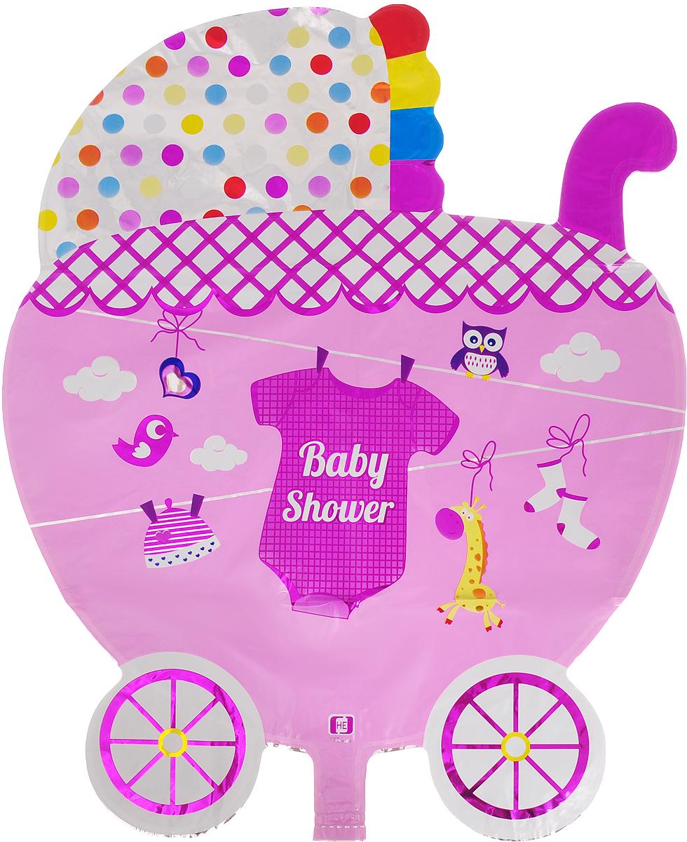 Sima-land Шар воздушный Коляска Baby цвет розовый кармашки на стену sima land приятные мелочи цвет салатовый розовый бордовый 5 шт