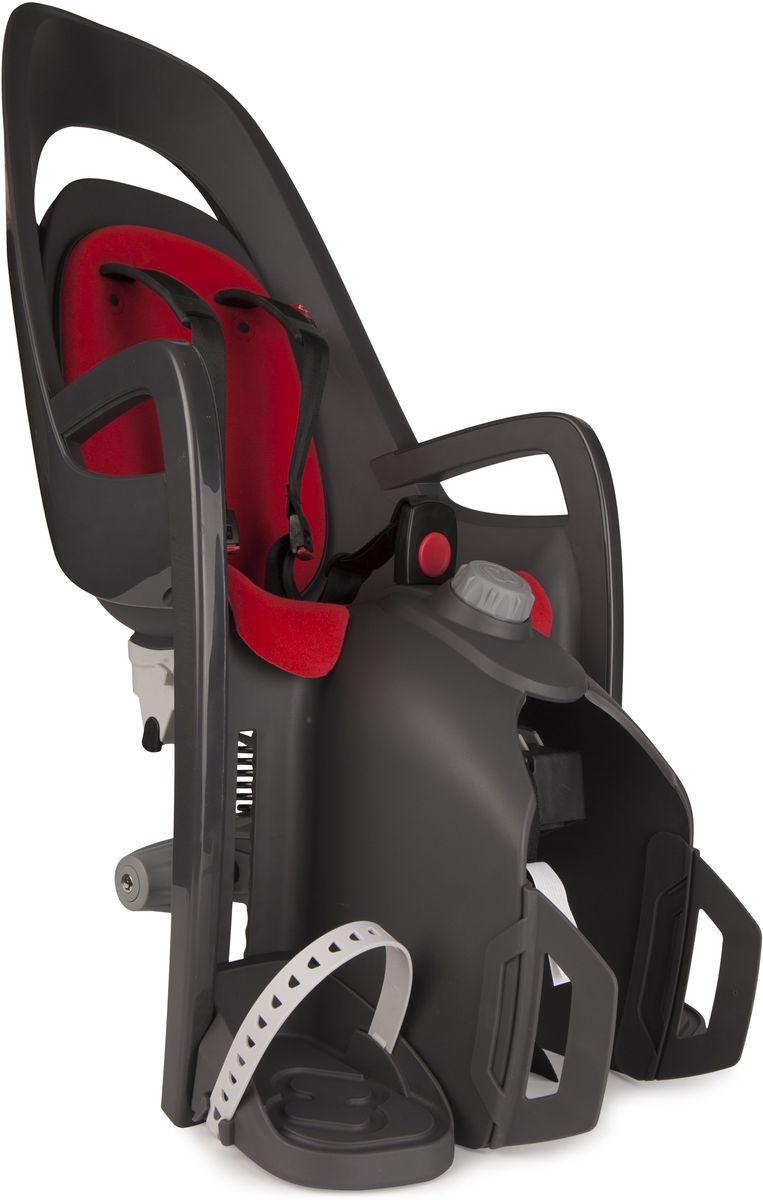 Детское велокресло Hamax Caress W/Carrier Adapter, цвет: серый, красный