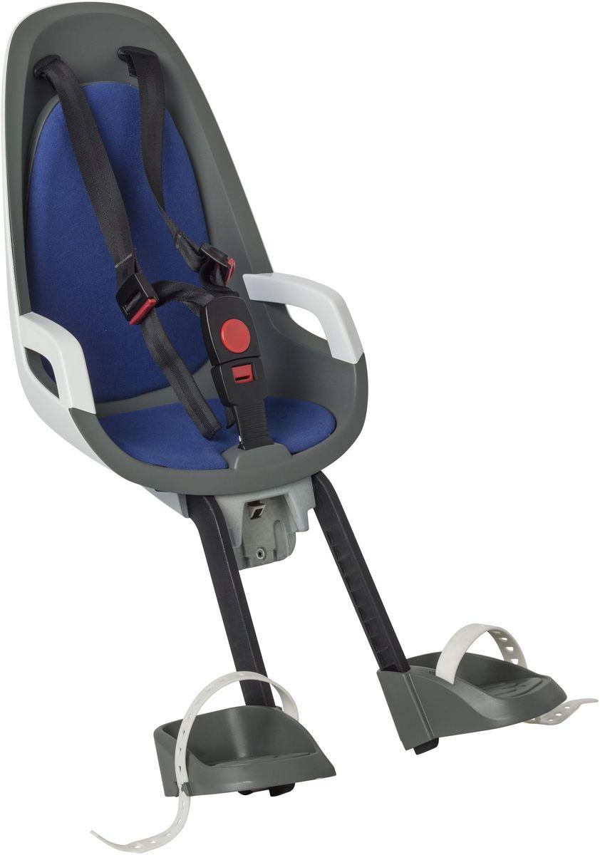 Детское велокресло Hamax Caress Observer, цвет: серый, белый, синий