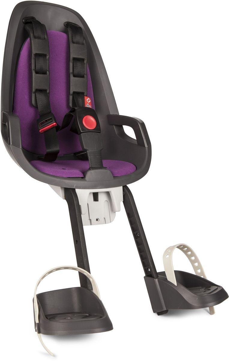 Детское велокресло Hamax Caress Observer, цвет: серый, фиолетовый
