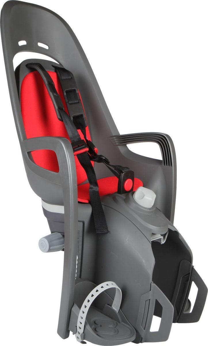Детское велокресло Hamax Zenith Relax W/Carrier Adapter, цвет: серый, красный