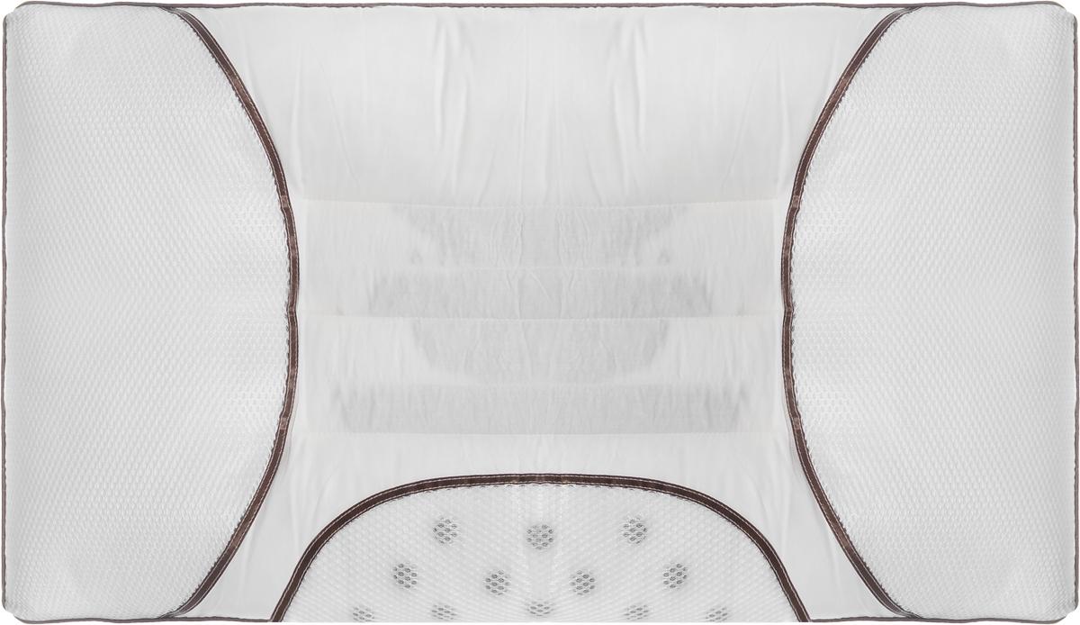 """Подушка Smart Textile """"Магия сна"""" разработана для людей, заботящихся о своем здоровье и идущих в ногу со временем. Подушка предназначена для правильного и здорового сна. В первую очередь это обусловлено уникальной конструкцией, состоящей из нескольких валиков, которые служат для оптимального естественного положения головы и шеи во время сна. Конструкция позволяет снять излишнее напряжение с шейных позвонков и мышц воротниковой зоны позвоночника, что особенно важно для комфортного сна и скажется на том, как вы проведете новый день. На подушках предусмотрены магнитные аппликаторы, положительно воздействующие магнитными полями на организм в целом. Изделие улучшает микроциркуляцию крови, увеличивает количество кислорода в клетках, повышает иммунитета, что позволяет организму более эффективно бороться с вирусными и простудными заболеваниями. Семена кассии в этой подушке имеют не маловажное значение. Эти семена популярны среди китайских врачей, создают микромассаж мышц шеи и головы, позволяют полностью расслабиться и восстановить энергетический баланс после трудового дня, успокаивают нервную систему. Эти качества особенно необходимы для полноценного отдыха. Основным наполнителем подушки является искусственный лебяжий пух. Рекомендации по уходу:Глажка, стирка и отбеливание - запрещены.Срок службы: 1 год.Срок хранения: 1 год."""