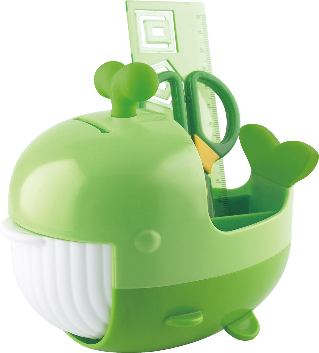Brauberg Канцелярский набор Кит цвет зеленый 4 предмета trolls канцелярский набор 4 предмета