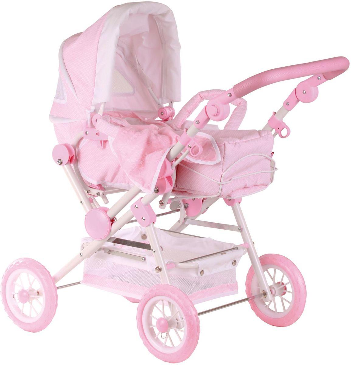 Gotz Транспорт для кукол Коляска четырехколесная цвет светло-розовый белый коляски для кукол mami 18973