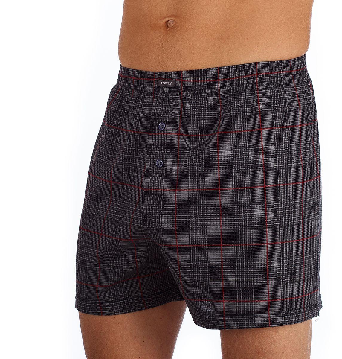 Фото Трусы-шорты мужские Lowry, цвет: серый. MSH-379. Размер XXXL (54)