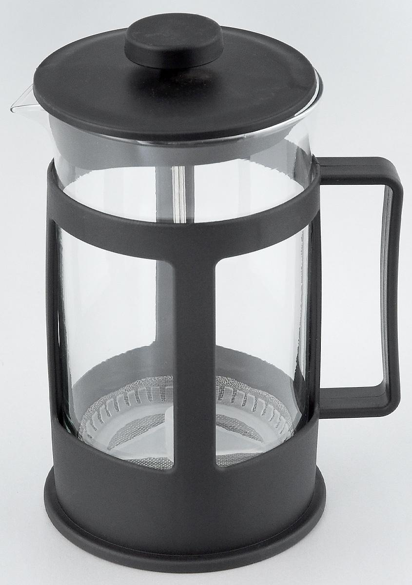 Френч-пресс Foshan Nanhai, 600 млLY600BФренч-пресс Foshan Nanhai поможет приготовить вкусный и ароматный чай или кофе. Корпус выполнен из высококачественного термостойкого полипропилена, а колба - из жаропрочного боросиликатного стекла. Чайник снабжен фильтром из метала с элементом из полипропилена и удобной ручкой. Не рекомендуется использовать в посудомоечной машине и в микроволновой печи. Диаметр (по верхнему краю): 9 см. Высота чайника (без учета крышки): 15,5 см.Высота чайника (с учетом крышки): 17,5 см.