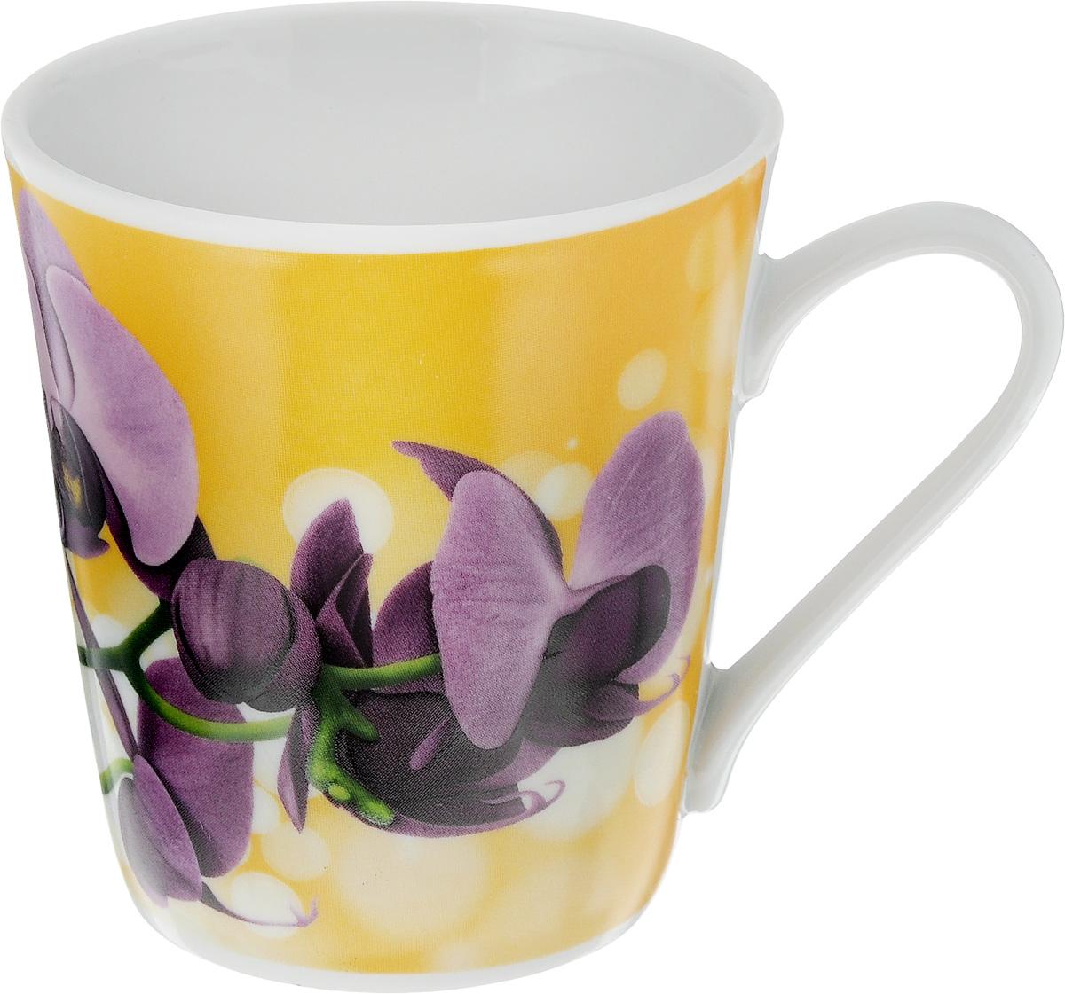 Кружка Классик. Орхидея, 300 мл1333019_желтый, фиолетовыйКружка Классик. Орхидея изготовлена из высококачественного фарфора. Изделие оформлено красочным рисунком и покрыто превосходной сверкающей глазурью. Изысканная кружка прекрасно оформит стол к чаепитию и станет его неизменным атрибутом.Диаметр кружки (по верхнему краю): 9 см.Высота кружки: 9,5 см.