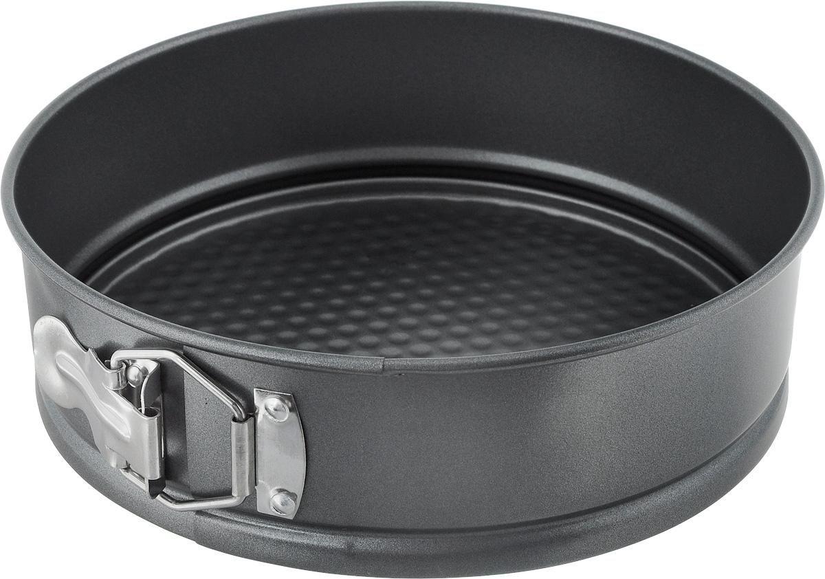 Форма для выпечки Regent Inox Easy, разъемная, круглая, с антипригарным покрытием, диаметр 22 см93-CS-EA-5-03_серыйКруглая форма для выпечки Regent Inox Easy выполнена из высококачественной углеродистой стали и снабжена антипригарным покрытием, что обеспечивает форме прочность и долговечность. Имеет разъемный механизм.Форма равномерно и быстро прогревается, что способствует лучшему пропеканию пищи. Данную форму легко чистить. Готовая выпечка без труда извлекается из формы.Форма подходит для использования в духовке с максимальной температурой 250°С.Перед каждым использованием форму необходимо смазать небольшим количеством масла. Чтобы избежать повреждений антипригарного покрытия, не используйте металлические или острые кухонные принадлежности. Можно мыть в посудомоечной машине. Диаметр формы (по верхнему краю): 22 см. Высота формы: 7 см.