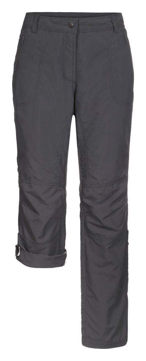 Брюки женские Icepeak, цвет: серый. 754055574IV. Размер 36 (42)754055574IVЖенские брюки от Icepeak повседневного стиля в поясе застегиваются на пуговицу и ширинку на молнии, имеются шлевки для ремня. Модель прямого кроя с карманами, брючины подворачиваются.