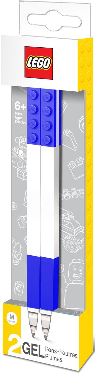 LEGO Набор гелевых ручек цвет чернил синий 2 шт51503Набор гелевых ручек из уникальной коллекции канцелярских принадлежностей Lego состоит из 2-х ручек с чернилами синего цвета. Ручка имеет пластиковый корпус с резиновой манжеткой, которая снижает напряжение руки. Ручка обеспечивает легкое и мягкое письмо, чернила быстро высыхают, не размазываются. Корпусы ручек дополнены классическими деталями конструктора Lego, что позволяет соединять их между собой.