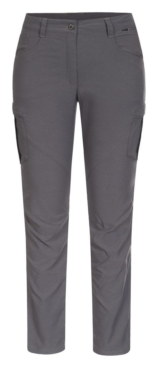 Брюки женские Icepeak, цвет: серый. 754200602IV. Размер 42 (48)754200602IVЖенские брюки от Icepeak, выполненные из высококачественного материала, в поясе застегиваются на пуговицу и ширинку на молнии, имеются шлевки для ремня. Модель прямого кроя с множеством карманов.