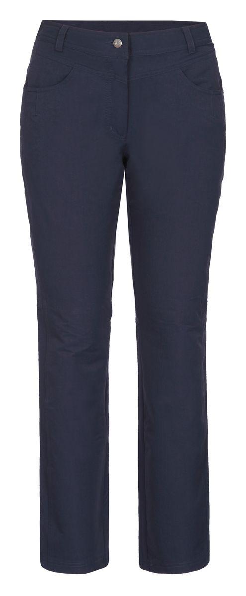 Брюки женские Icepeak, цвет: синий. 754056659IV. Размер 38 (44)754056659IVЖенские брюки от Icepeak, выполненные из высококачественного материала, в поясе застегиваются на пуговицу и ширинку на молнии, имеются шлевки для ремня. Модель прямого кроя с карманами.