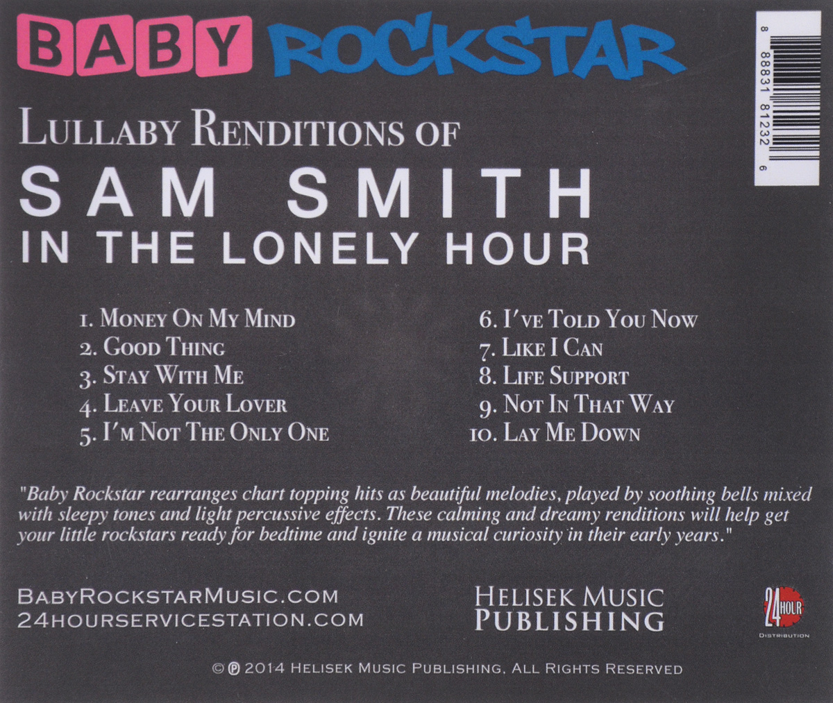 Baby Rockstar.  Lullaby Renditions Of Sam Smith - In The Lonely Hour Волтэкс-инвест