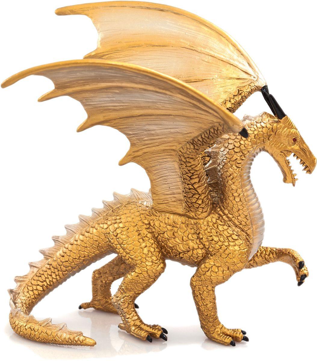 Mojo Фигурка Дракон Deluxe цвет золотистый 387256 овечка лежащая mojo
