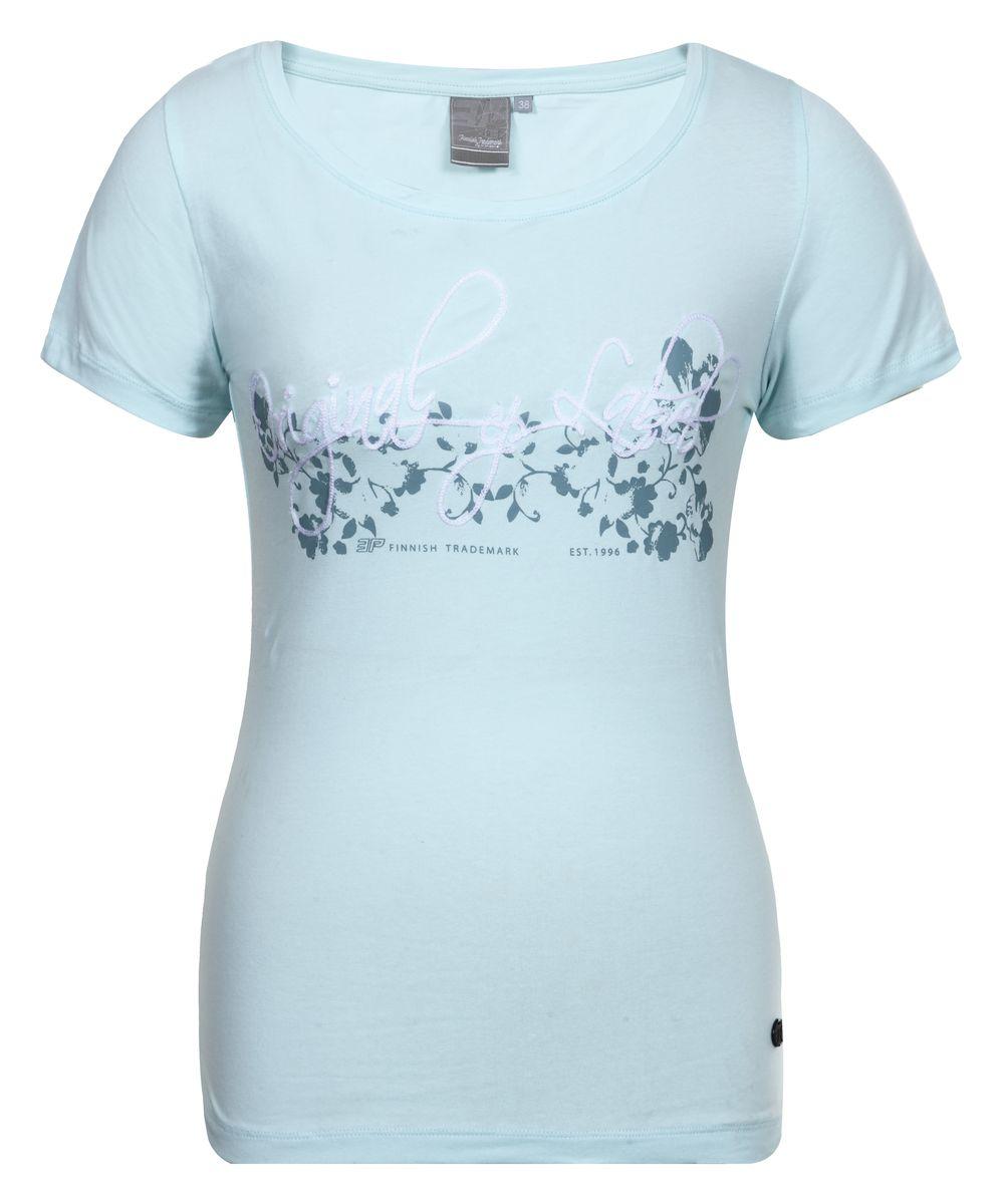 цена Футболка женская Icepeak Lilith, цвет: бирюзовый. 754724591IV. Размер 40 (46) онлайн в 2017 году