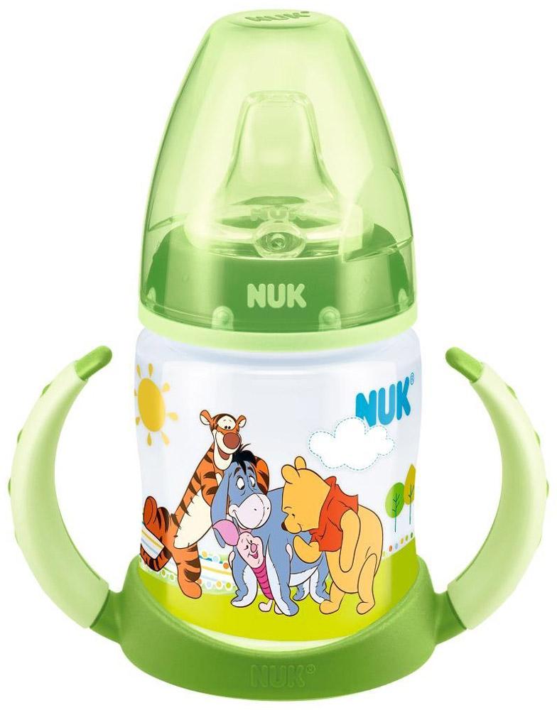 """Бутылочка обучающая для питья NUK """"Дисней. First Choice"""", с силиконовой насадкой, 150 мл, от 6 месяцев"""
