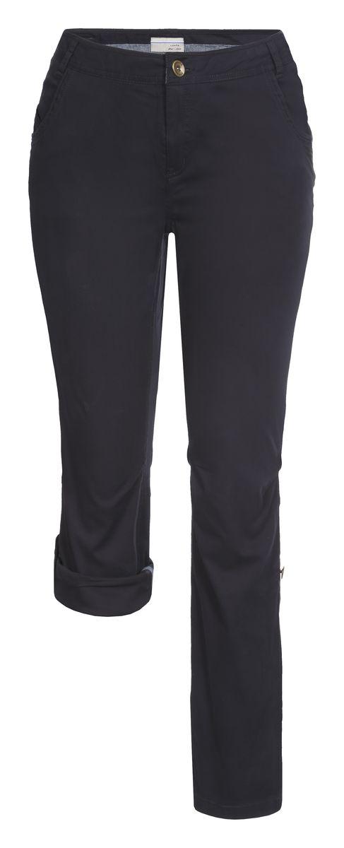 Брюки женские Luhta, цвет: темно-синий. 737733362LV. Размер 40 (48)737733362LVСтильные женские брюки Luhta выполнены из высококачественного материала. Модель стандартной посадки застегивается на пуговицу в поясе и ширинку на застежке-молнии. Пояс имеет шлевки для ремня. Спереди брюки дополнены втачными карманами. Низ брючин можно подвернуть и зафиксировать хлястиками с пуговицами.
