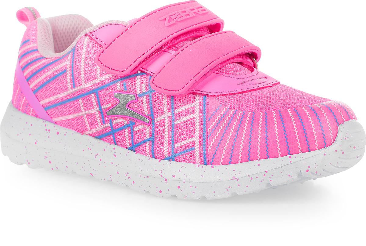 Кроссовки для девочки Зебра, цвет: розовый. 11616-9. Размер 3611616-9Стильные кроссовки от Зебра выполнены из дышащего текстиля. На ноге модель фиксируется с помощью двух ремешков на липучках. Внутренняя поверхность из текстиля комфортна при движении. Стелька выполнена из натуральной кожи и дополнена супинатором, который обеспечивает правильное положение ноги ребенка при ходьбе, предотвращает плоскостопие. Подошва с рифлением обеспечивает идеальное сцепление с любыми поверхностями.