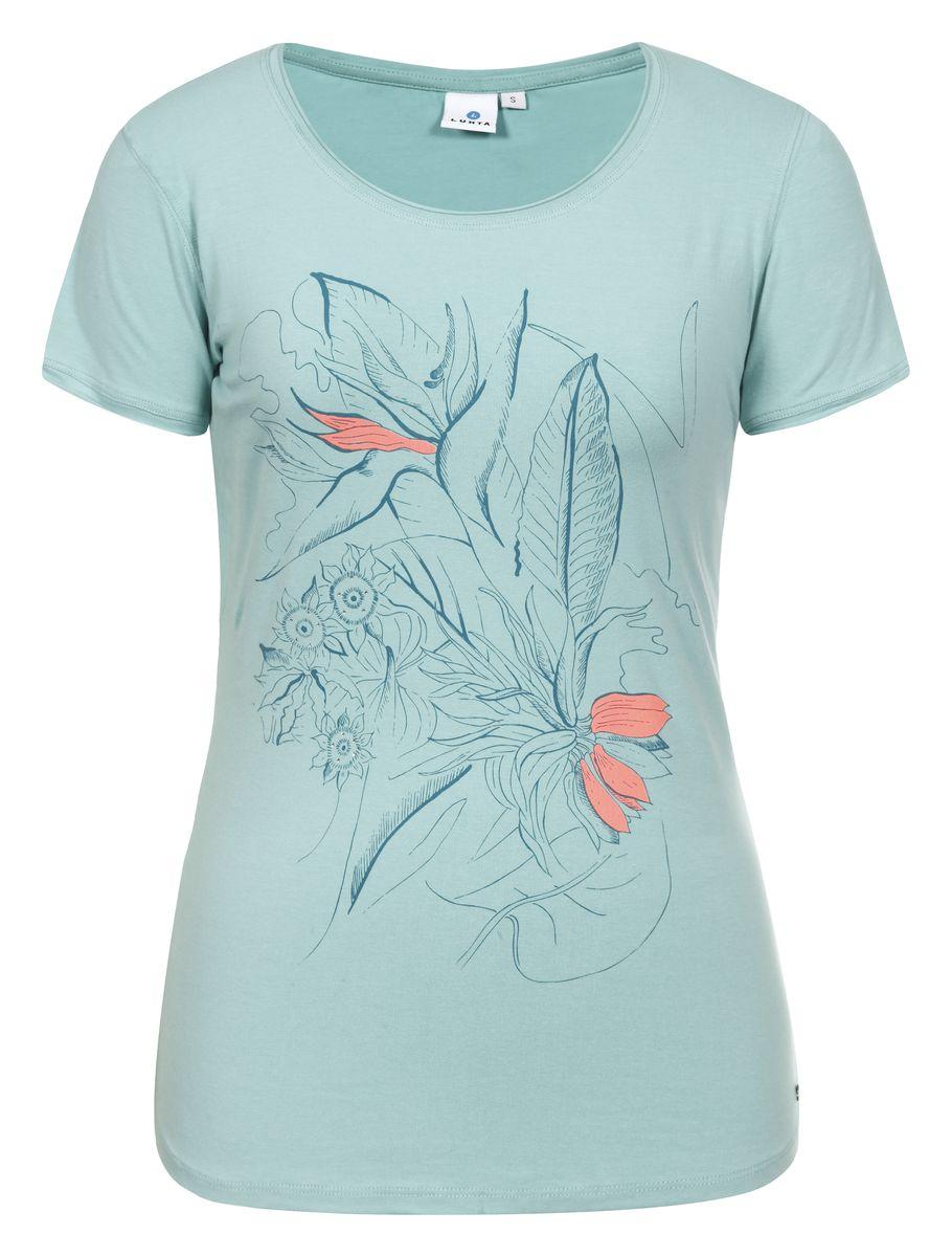 Футболка женская Luhta, цвет: голубой. 737343591LV. Размер L (48) женская футболка l