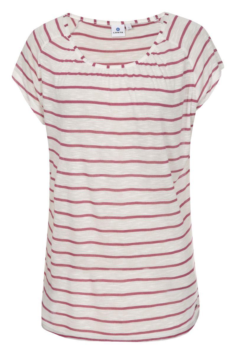 Футболка женская Luhta, цвет: розовый, белый. 737341334LV. Размер M (46) футболка luhta luhta lu692ewauhs6