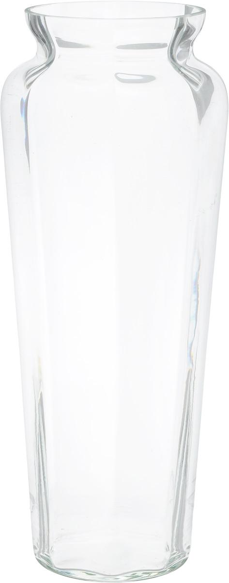 Ваза NiNaGlass Диана, цвет: прозрачный, высота 38 см90-045_прозрачныйВаза NiNaGlass Диана, выполненная из высококачественного стекла, имеет изысканный внешний вид. Такая ваза станет ярким украшением интерьера и прекрасным подарком к любому случаю.Не рекомендуется мыть в посудомоечной машине.Высота вазы: 38 см.Диаметр вазы (по верхнему краю): 12 см.