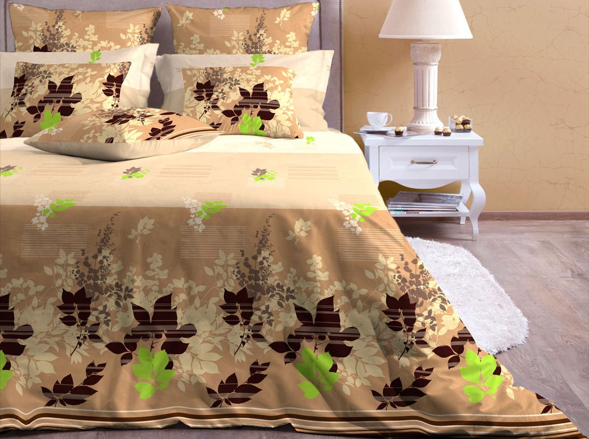 Комплект белья Хлопковый Край Фьюжн, 2-спальный, наволочки 70х7020б-1ХКссКомплект постельного белья выполнен из качественной бязи и украшен оригинальным рисунком. Комплект состоит из пододеяльника, простыни и двух наволочек. Бязь представляет из себя хлопчатобумажную матовую ткань (не блестит). Главные отличия переплетения: оно плотное, нити толстые и частые. Из-за этого материал очень прочный и практичный. Постельное белье Хлопковый Край экологичное, гипоаллергенное, оно легко стирается и гладится, не сильно мнется и выдерживает очень много стирок, при этом сохраняя яркость цвета и рисунка.Советы по выбору постельного белья от блогера Ирины Соковых. Статья OZON Гид