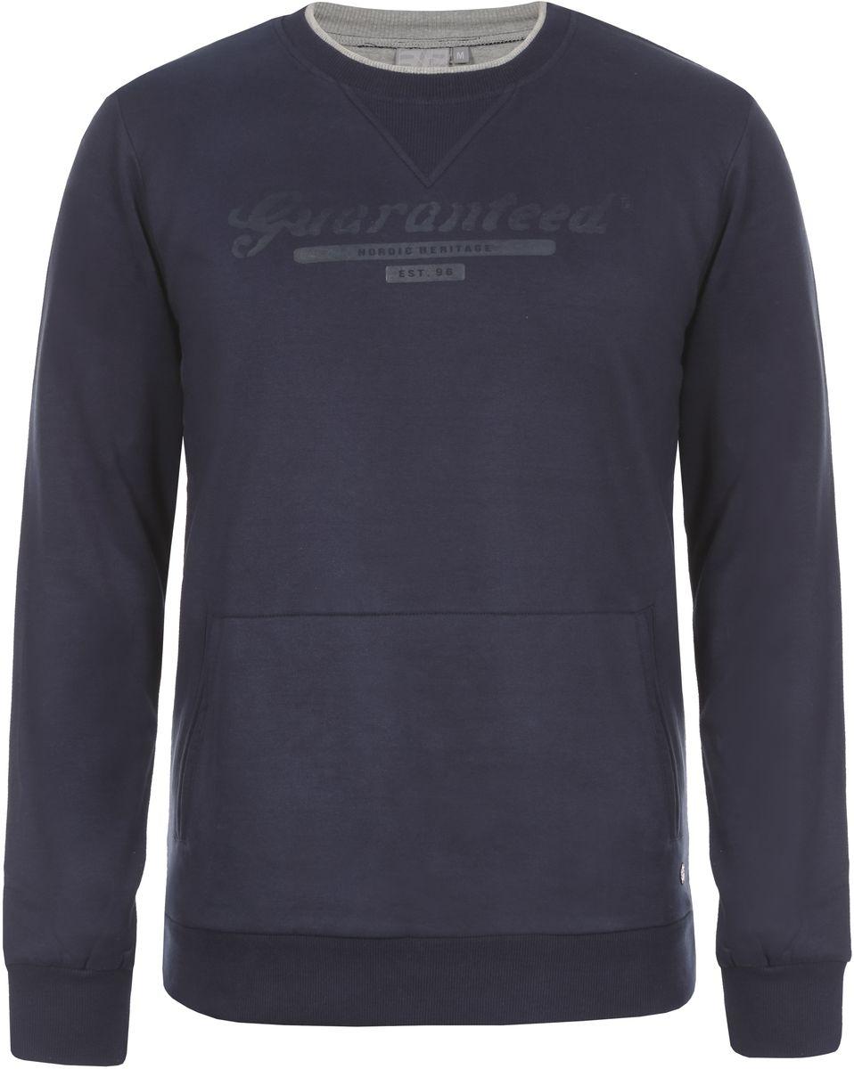 Свитшот мужской Icepeak Levon, цвет: темно-синий. 757872573IV_390. Размер XXL (56) пуловер мужской karff цвет синий бордовый черный 88004 01 размер xxl 56