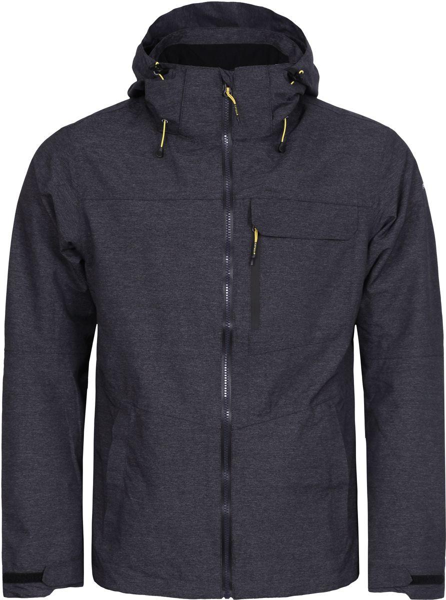 Куртка мужская Icepeak, цвет: серый. 756111516IV_290. Размер S (48)756111516IV_290Мужская куртка с подкладкой Icepeak выполнена из качественного материала. Модель с длинными рукавами застегивается на застежку-молнию. Изделие дополнено капюшоном и карманами.