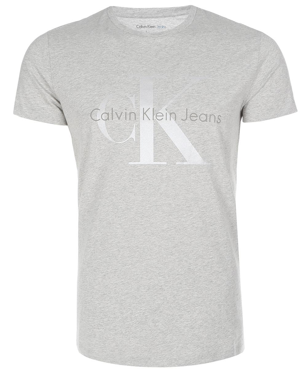 Футболка мужская Calvin Klein Jeans, цвет: серый. J30J304946_0380. Размер XXL (52/54)